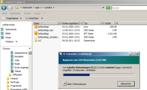 Paket auf den Management Server kopieren