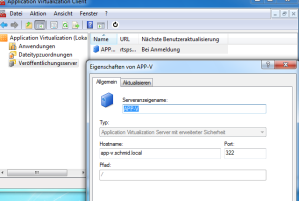 App-V Client - Veröffentlichungsserver