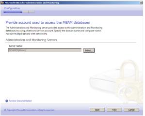 Auswahl der Monitoring Server