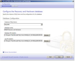 SQL Datenbank Name und Sicherungsort