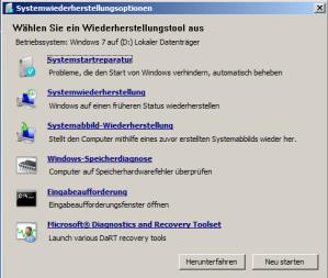 Reparaturkonsole mit DaRT Option