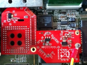 Indivision MK-II im Amiga 1200 eingebaut