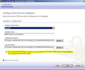 Datenbank Konfiguration Schritt 1