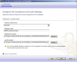 Datenbank Konfiguration Schritt 2