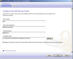 Pfad für SelfService Portal