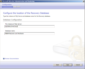 Auswahl des Datenbankservers
