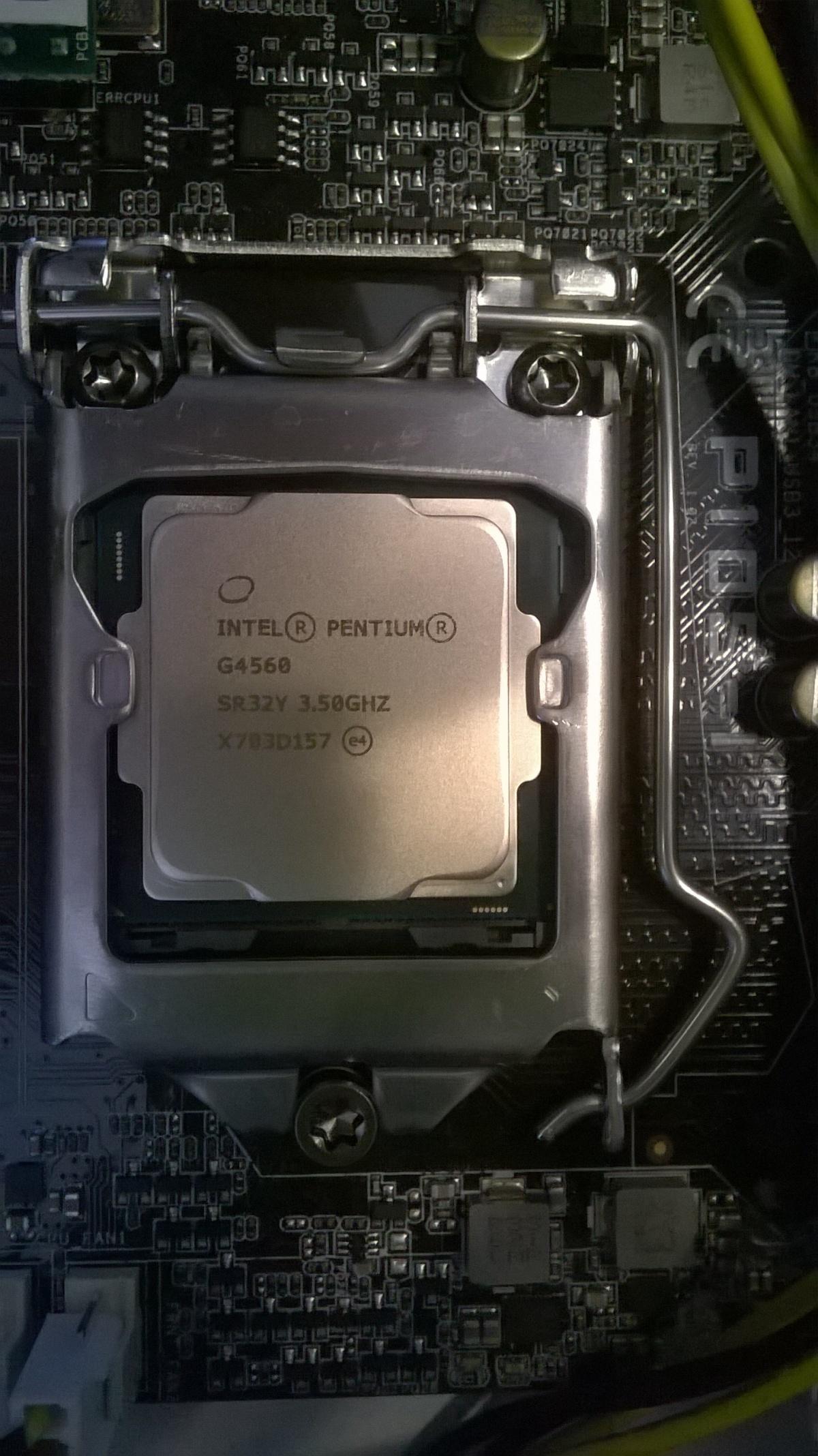 Intel Pentium G4560 Kaby Lake im AsusP10S-I