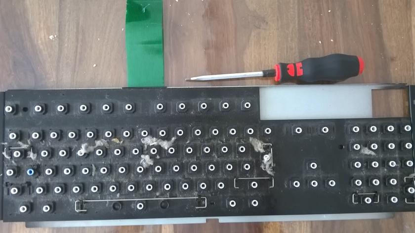 Amiga 1200 Tastatur - schmutzige Detailansicht
