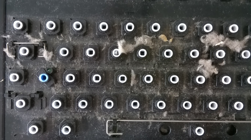 Amiga 1200 Tastatur - schmutzige Nahaufnahme